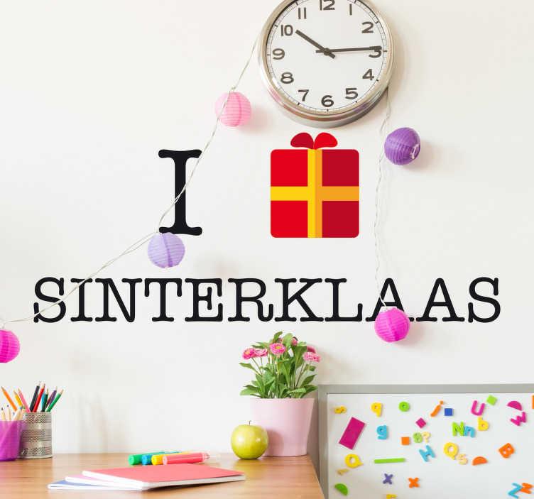 TenStickers. Ik pakje Sinterklaas. Muursticker Ik pakje Sinterklaas, een feestelijke variant waarmee je, je goed voorbereidt op de komst van de goedheiligman.