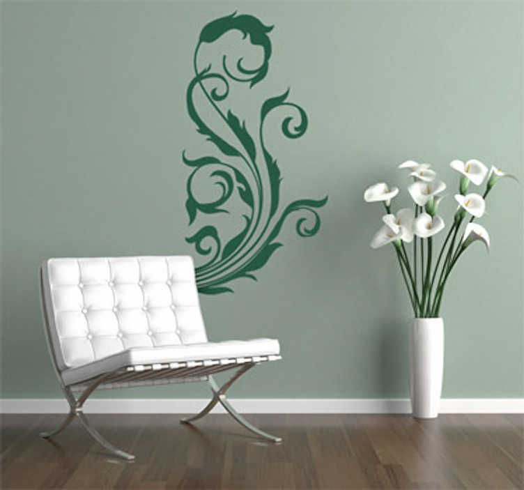 TenStickers. Floral Element Wall Sticker. Wall Stickers - Ornamental floral design to create a pleasing and balanced composition in any room.