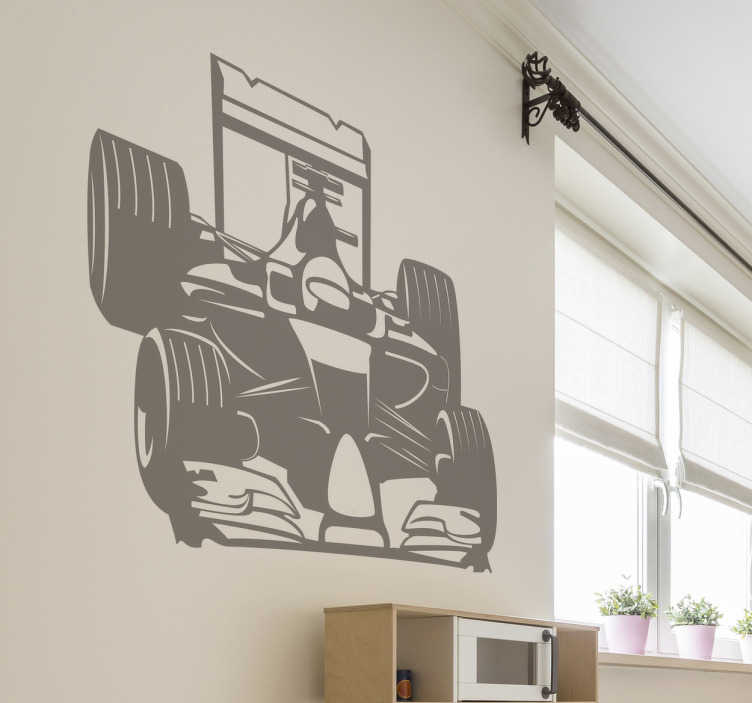 TenStickers. Formula 1 Wall Sticker. This Formula 1 wall sticker is perfect for you. The wall sticker consists of a Formula 1 racing car with driver