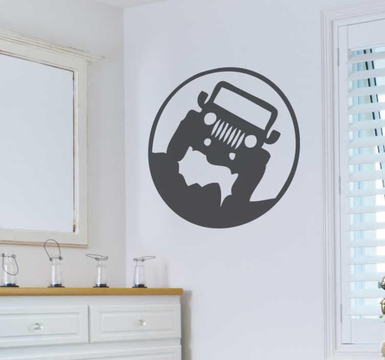 TenStickers. Vinil decorativo Jeep. Vinil decorativo Jeep. Se adoras de aventura com compra este stickers decorativo de excelente qualidade com um preço incrível.