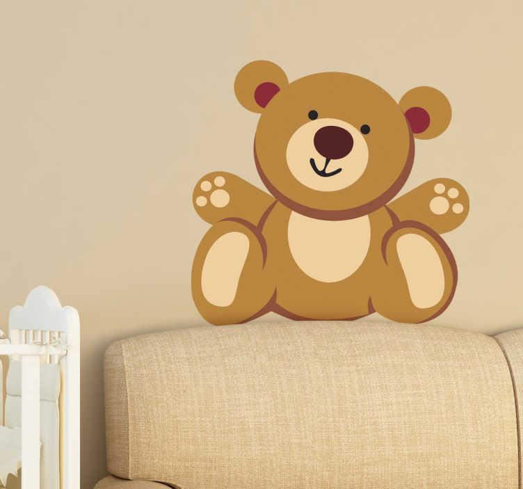 TenStickers. Wandtattoo Kinder Teddybär. Wenn Sie Ihren Kindern eine Freude machen wollen, überraschen Sie sie doch mit einem tollen Wandtattoo mit einem Teddybär!