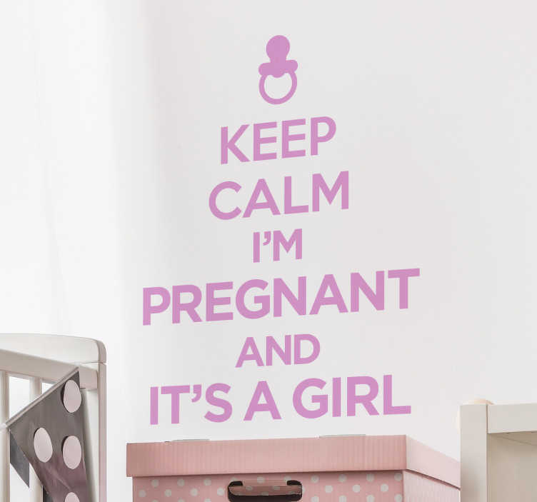 TenStickers. Keep Calm, I'm Pregnant Wall Sticker. This wall decal can help with that problem and also serve as a beautiful nursery decoration.