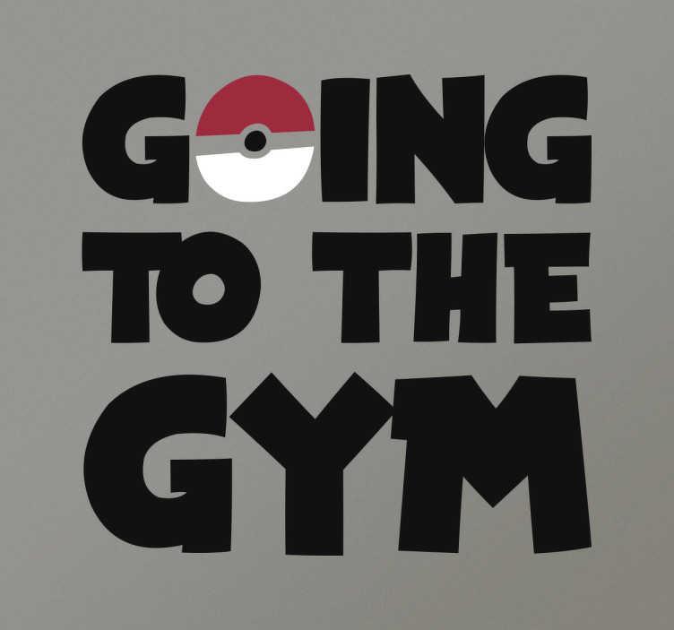 Naklejka Pokemon Going to the Gym