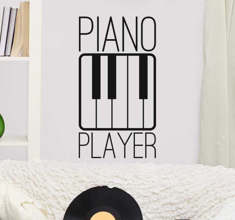 TenStickers. Muursticker Piano Player. Muursticker Piano Player, een mooie en muzikale wanddecoratie voor alle piano spelers.