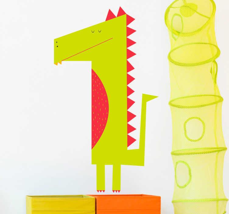 TenStickers. Autocolante infantil crocodilo. Autocolante infantil com um crocodilo. Ideal para a decoração do quarto infantil. O seu filho vai adorar.