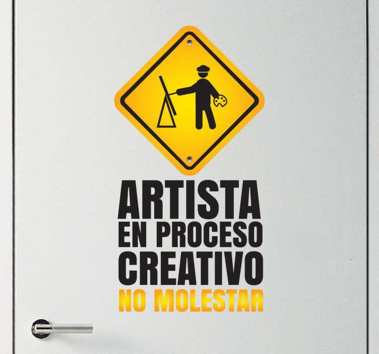 Vinilo no molestar al artista