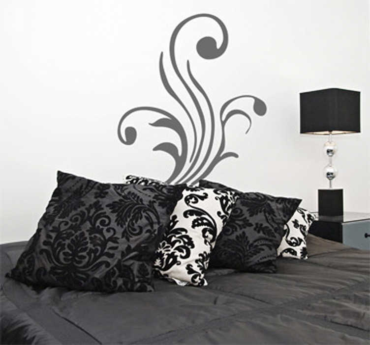 TenStickers. Three Stalks Wall Sticker. Wall Stickers - Ornamental floral design of three stalks. Create a pleasing and balanced composition in any room