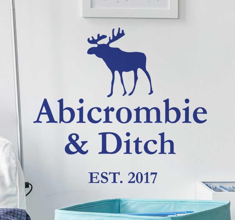 TenStickers. Wandtattoo Abicrombie & Ditch. Du hast dein Abitur in der Tasche? Dann hole dir dieses coole Wandtattoo Abicrombie & Ditch!