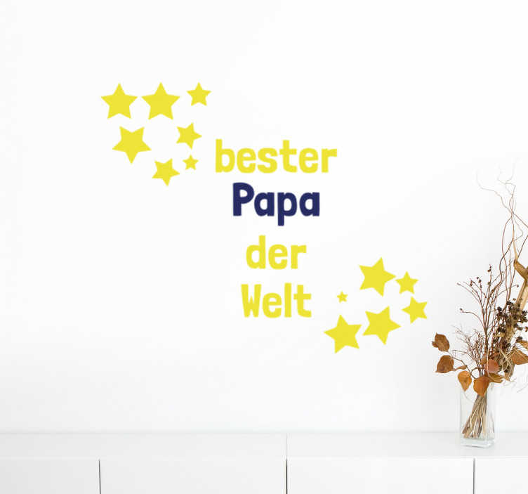 Wandtattoo Bester Papa Sterne