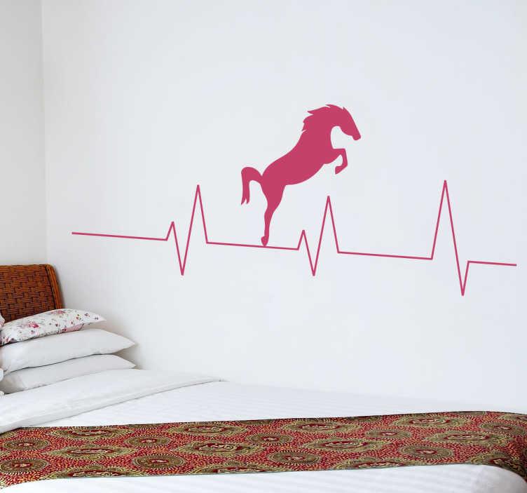 TenStickers. Wandtattoo Herzschlag Pferd. Dieses tolle Wandtattoo Herzschlag Pferd ist etwas für alle die, deren Herz für Pferde schlägt!