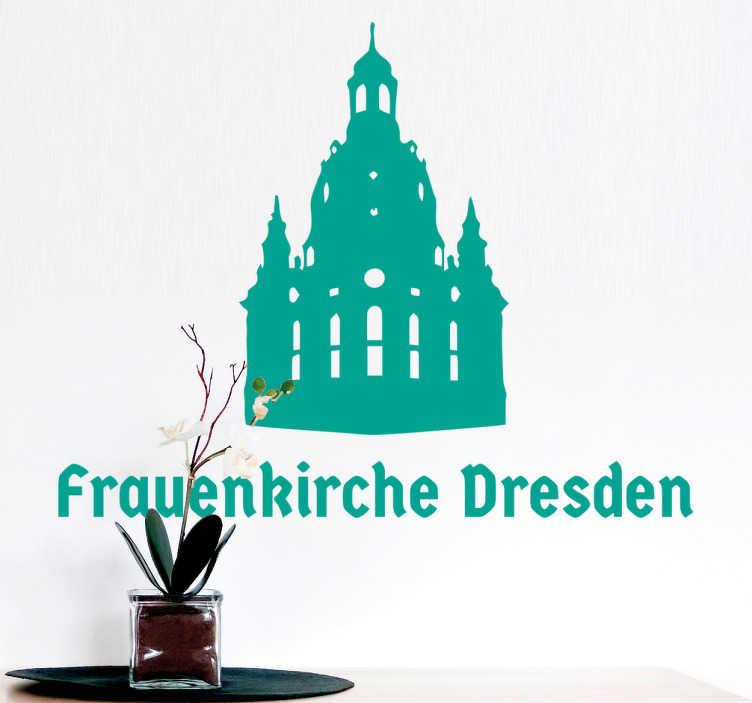 TenStickers. Wandtattoo Frauenkirche Dresden. Dieses tolle Wandtattoo mit der Silhouette der Dresdener Frauenkirche macht Ihre Wand zum Hingucker!