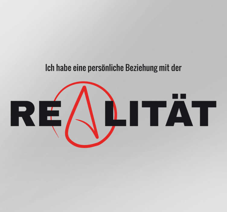 TenStickers. Aufkleber Atheismus Realität. Aufkleber Atheismus Realität – Wenn Sie ein bekennender Atheist sind, ist dieses Wandtattoo genau was Sie suchen!