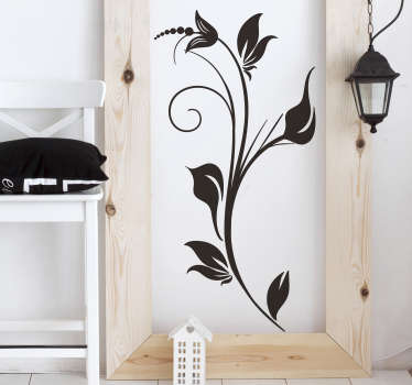 Sticker décoratif fleurs monochrome