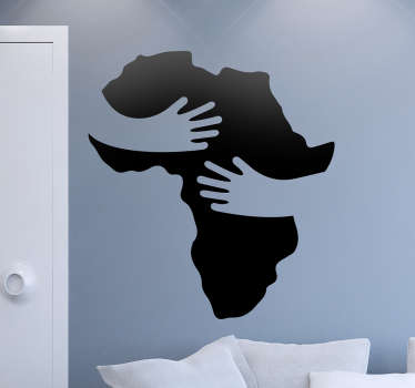 If you love Africa and are motivated to make the world a better place, this wall sticker is perfect for you.