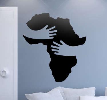 Muursticker Solidariteit Afrika knuffel