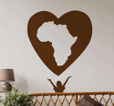 Sticker solidaire cœur Afrique