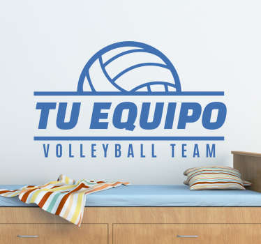 Pegatinas personalizables de volley