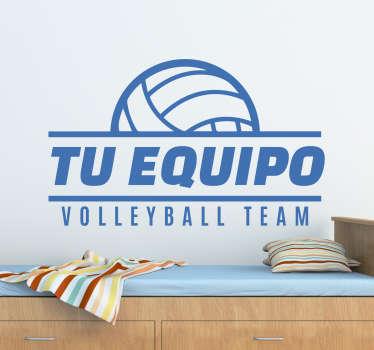 Vinilos decorativos personalizables con el nombre de tu equipo favorito de volleyball o del equipo donde practicas este movido y apasionante deporte.