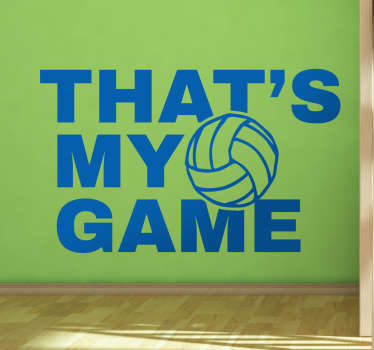 Muursticker Volleybal My Game