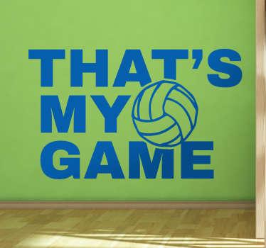 Muursticker Volleybal My Game