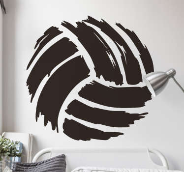 sticker ballon volley-ball applicable sur toutes surfaces et personnalisable.