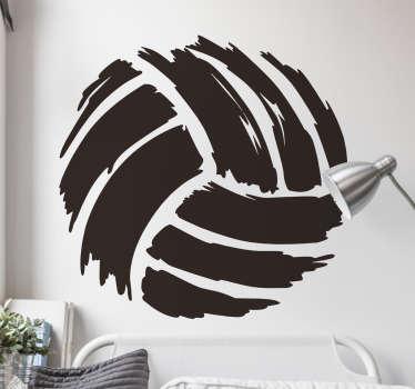 Vinilo dibujo pincel pelota volley