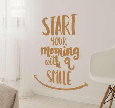 Muursticker Start your morning