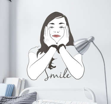 Adesivo decorativo ritratto smile