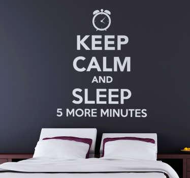 Muursticker tekst keep calm and sleep