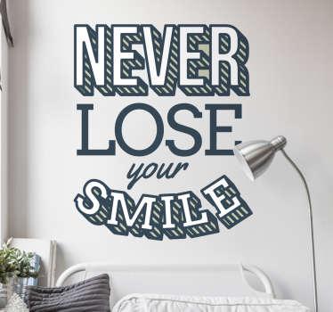 Vinilo never lose your smile