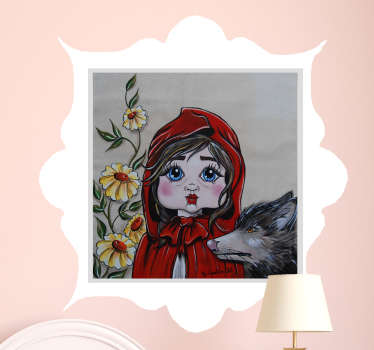 Sticker portrait chaperon rouge