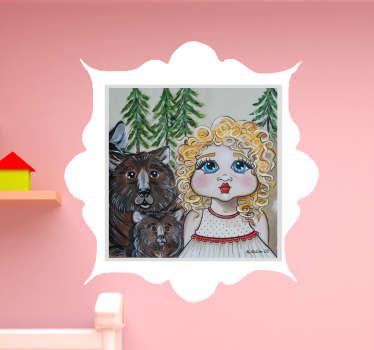 Wandtattoo Märchen Goldlöckchen und die drei Bären