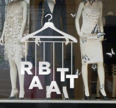 Sie haben attraktive Sonderangebote? Dann stellen Sie mit diesem Schaufensteraufkleber Rabatt Kleiderbügel sicher, dass Ihre Kunden informiert sind!