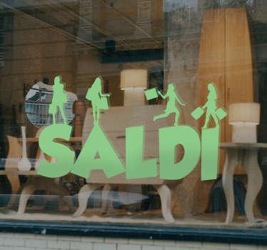Adesivo Saldi silhouette ragazze