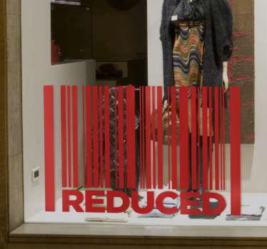 Schaufensteraufkleber Barcode Reduced