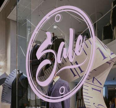 Schaufensteraufkleber Sale Kreis