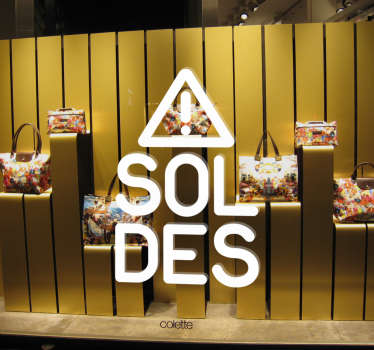 sticker soldes attention