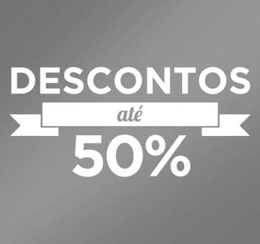 Autocolante descontos 50%