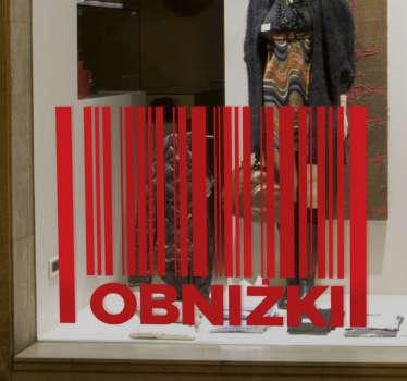 Dekoracja na witrynę sklepową,która poinformuje wszystkich,że w Twoim sklepie właśnie trwają wielkie wyprzedaże.
