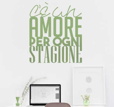 Adesivo citazione Eros Ramazzotti