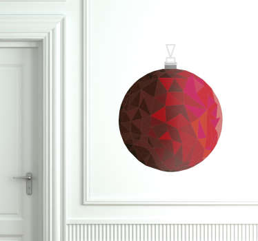 Vinilo flat bauble ruby