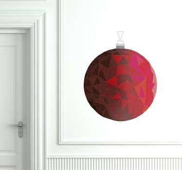 Adesivo natalizio pallina rubino