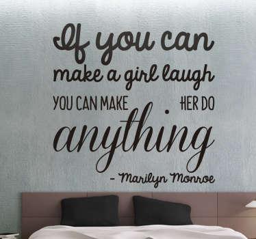 Muursticker Marilyn Monroe citaat