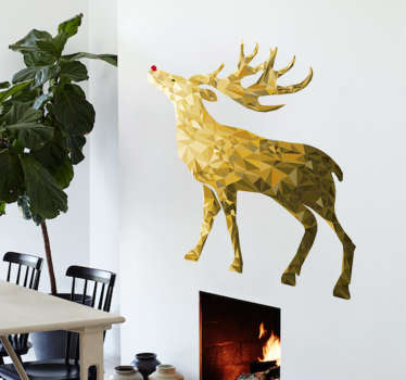 Golden Reindeer Decorative Wall Sticker
