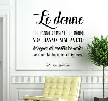 Adesivo murale citazione Rita Levi Montalcini