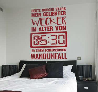 Wandtattoo Wecker