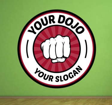 Sticker votre dojo et slogan