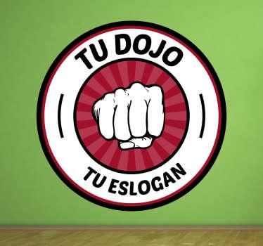 Vinilo karate dojo personalizable