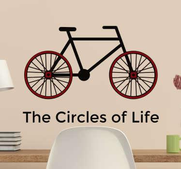 Pegatinas bici circles of life