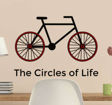 Adesivo bici Circles of life